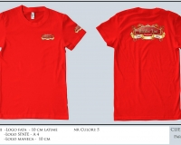 para_dise_T-SHIRT RED SHORT SLEEVE ROUND NECK